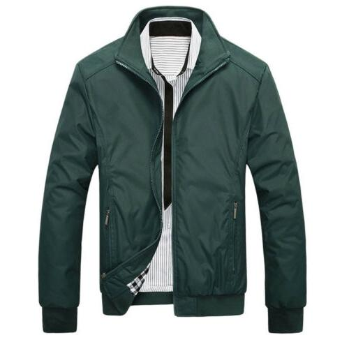 Mens Bomber Jacket Coat Outfit Outerwear Clothing M-3XL