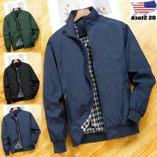 mens lightweight bomber jacket coat casual outfit
