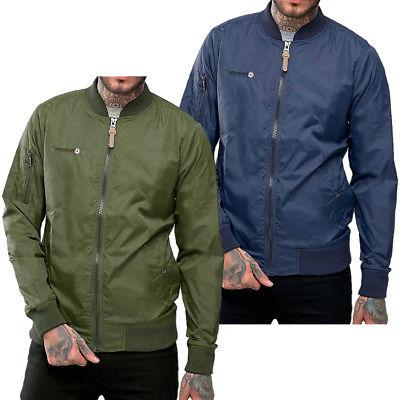 Mens Lambretta Lightweight Bomber Jacket MA1 Military Coat S