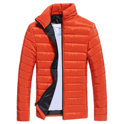 Mens Puffer Down Coat Jacket Quilted Packable