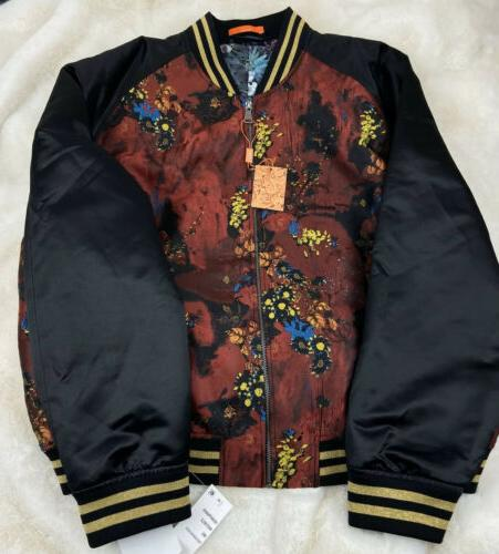 Tallia Men's Slim Metallic Floral Bomber Jacket MSRP:$350