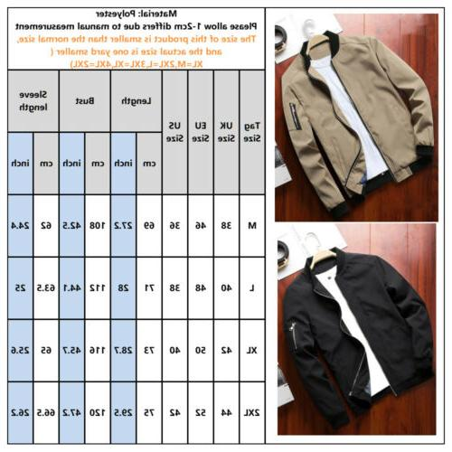Mens Up Lightweight Bomber Outfit Tops Outerwear