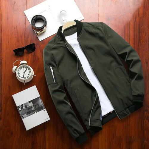 Mens Jacket Lightweight Bomber Outfit Tops