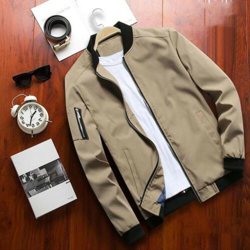 Lightweight Bomber Coat Casual Outfit Tops Outerwear