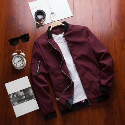 Mens Lightweight Bomber Coat Outfit