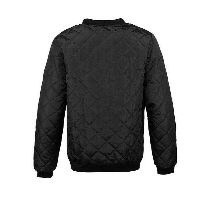 Mens Jacket Quilted Zipper