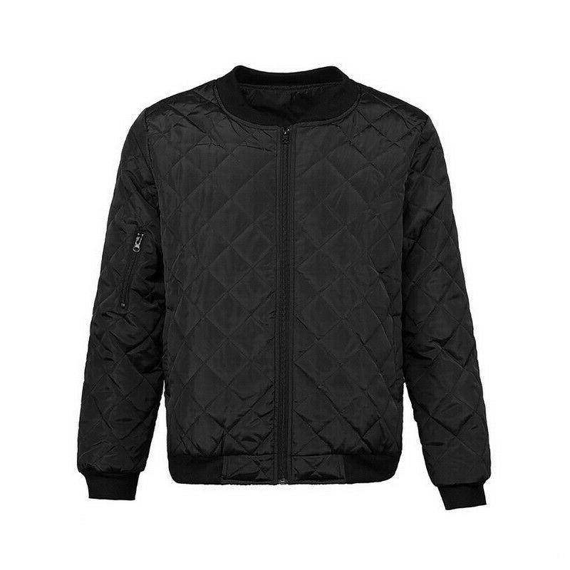 Mens Winter Bomber Jacket Down Quilted