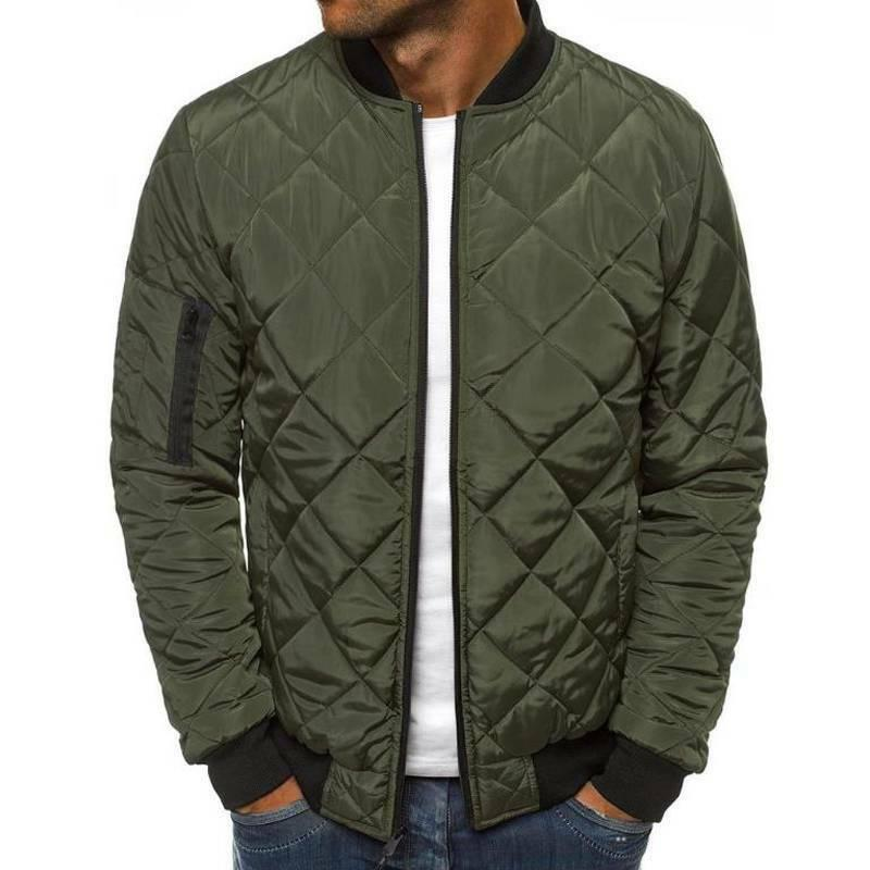Mens Warm Padded Quilted Puffer Bomber Outwear