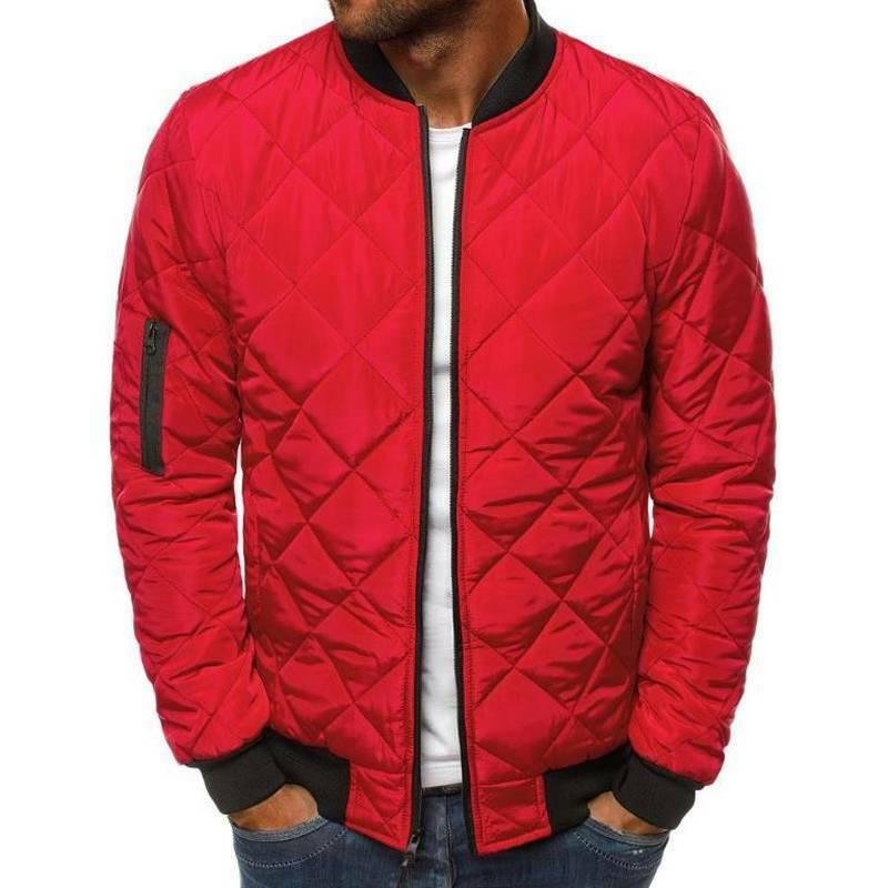 Mens Winter Quilted Puffer Bomber Up Outwear