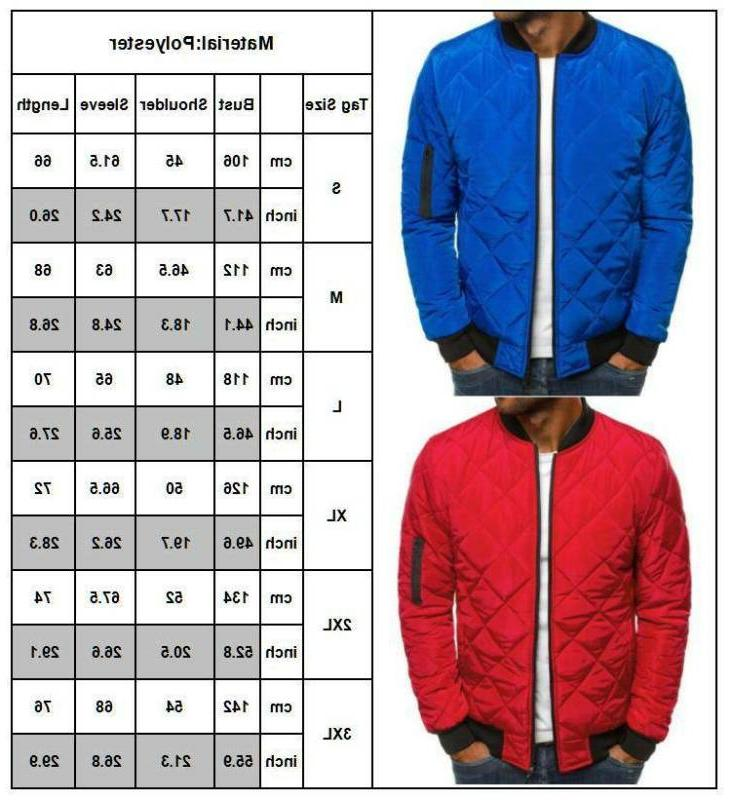 Mens Quilted Bomber Zip Outwear