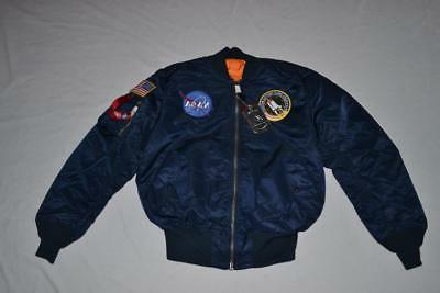 Men's Alpha Industries Nasa Ma-1 Bomber Jacket, Size Medium