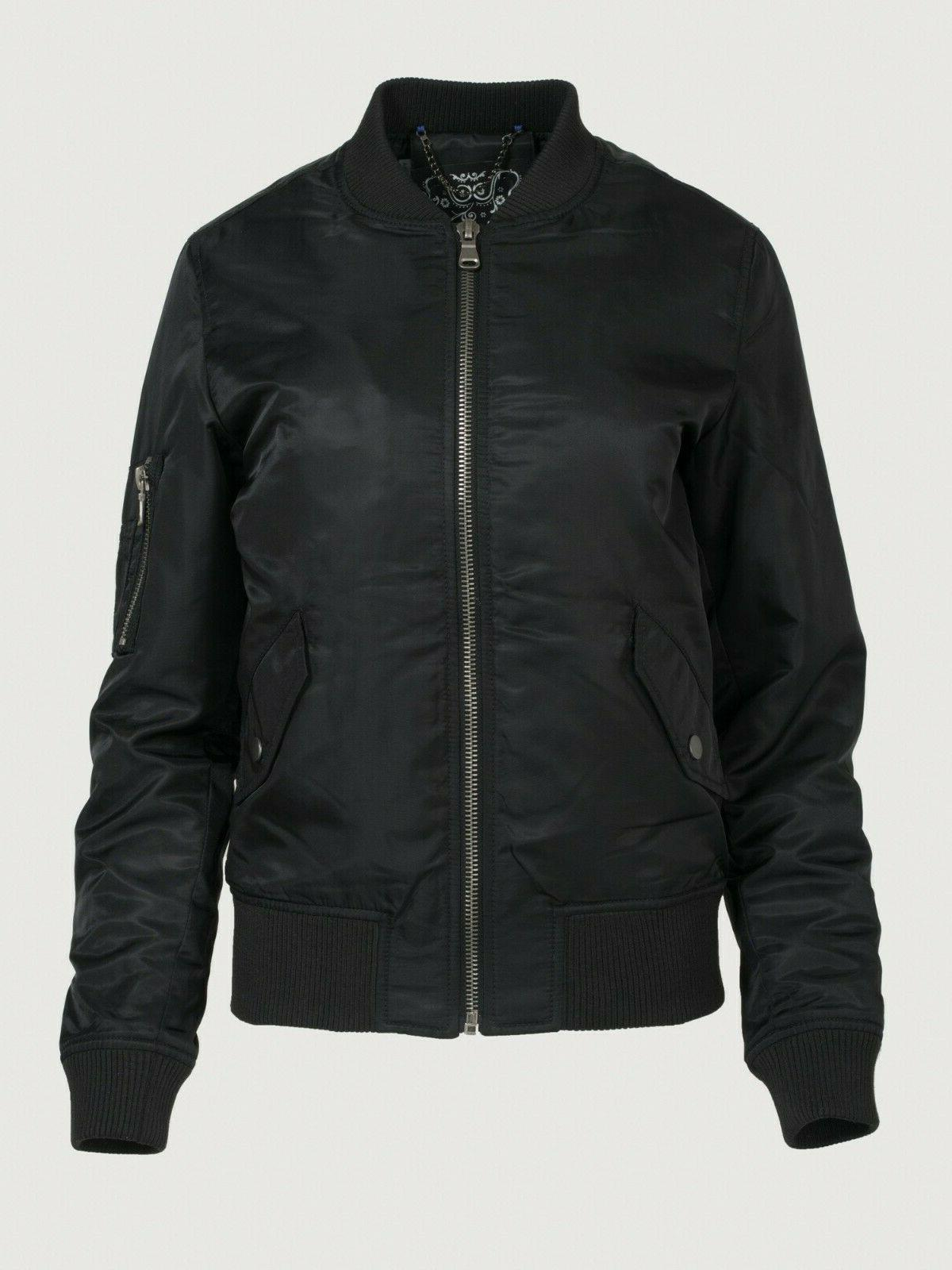 New $98 Dillards water resistant bomber jacket XS