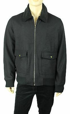 NEW AMERICAN RAG BLACK WOOL BLEND FULL ZIP BOMBER JACKET XL