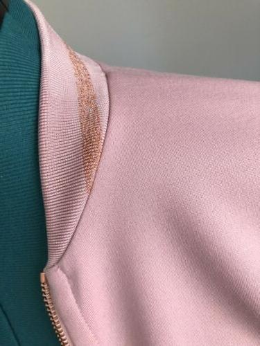 NEW Pink Structured Bomber US Small