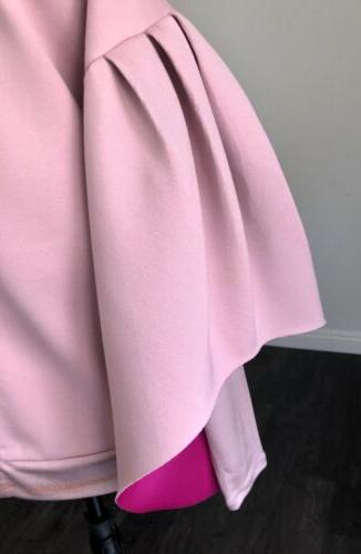 NEW Baker Dusty Pink Bomber Puff Sleeves Sz US S