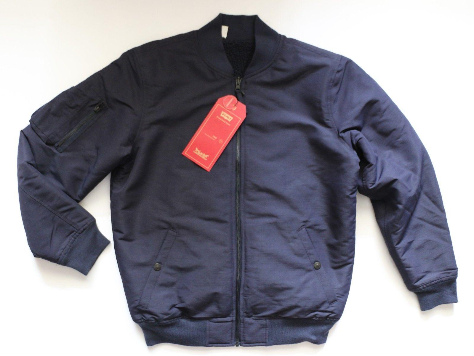 New LEVI'S Reversible Bomber Jacket Men's Sizes S, M, L, XL