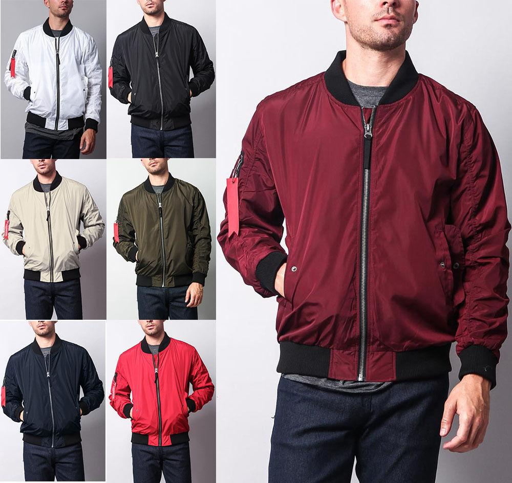 New Men's Light Weight Bomber Jacket Flight Military Air For
