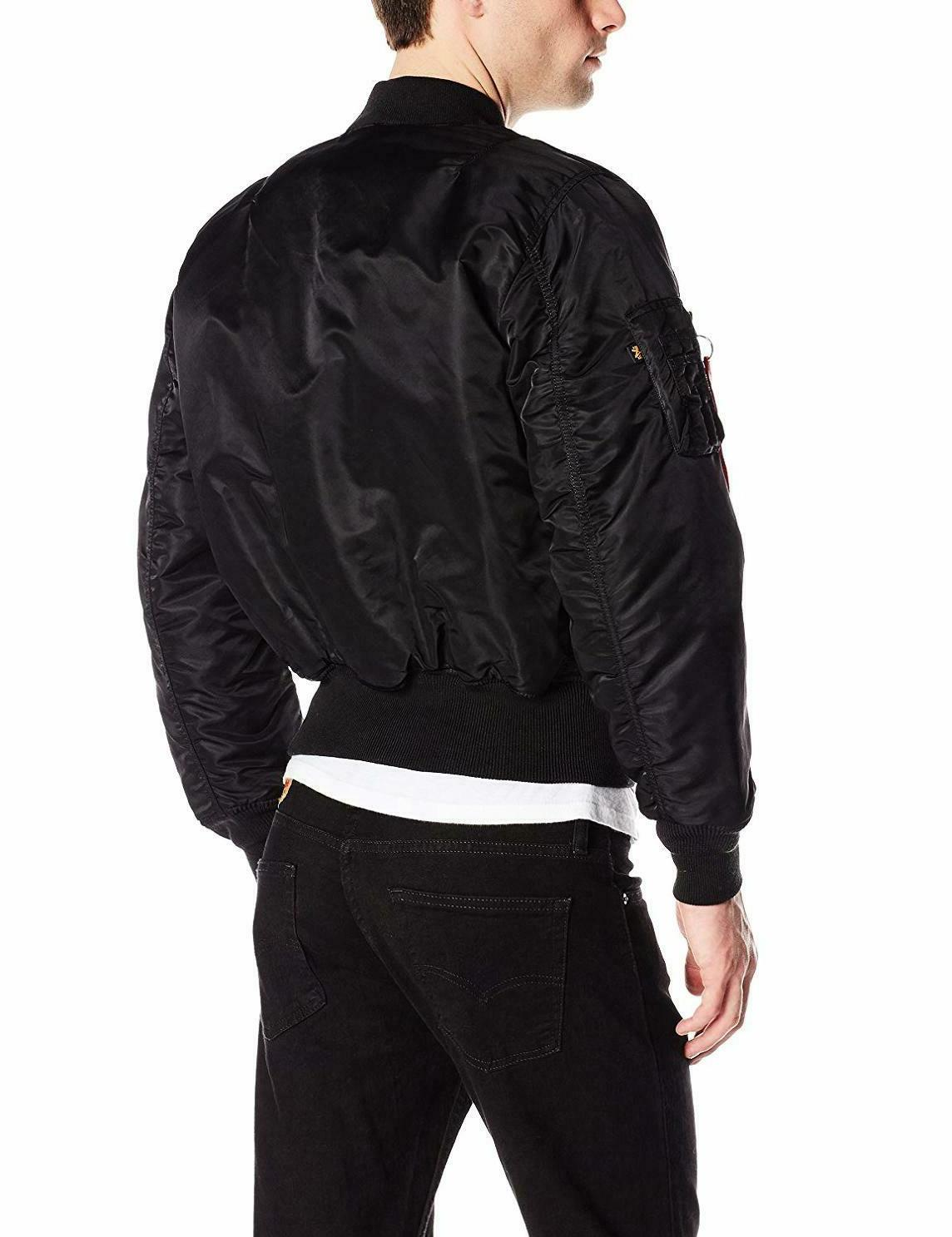 New MA-1 Bomber Jacket Black Medium