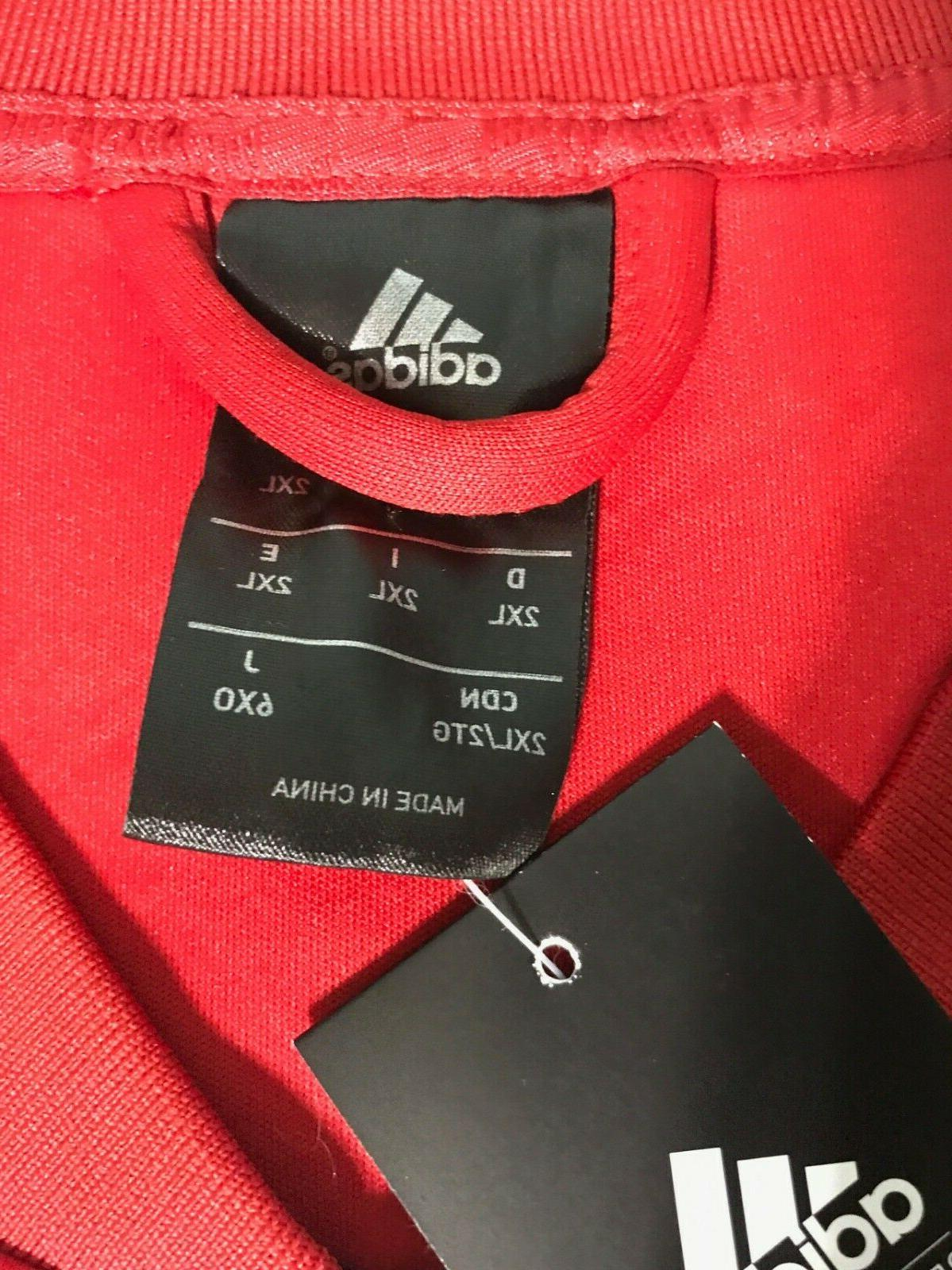 NEW Adidas Men's Red Embossed Jacket AO1644