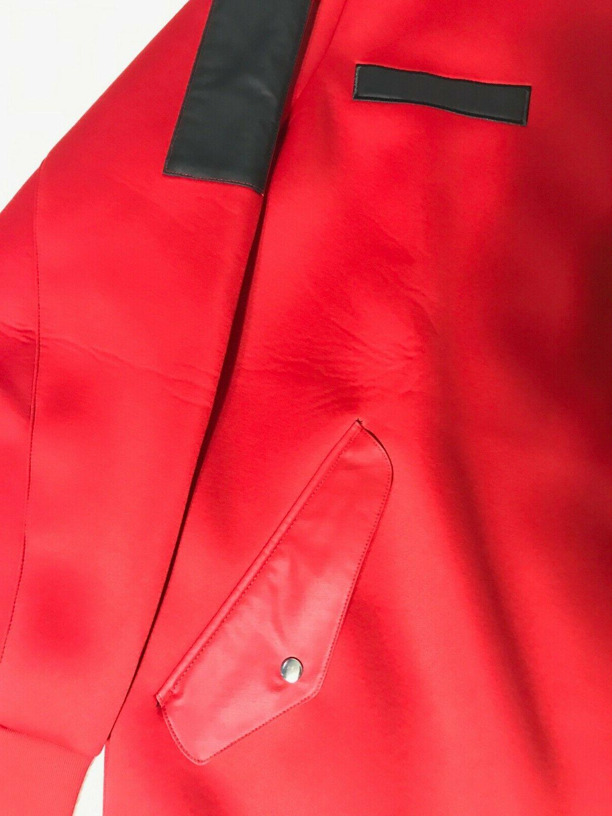 NEW Men's Red Dame Core Bomber Embossed Jacket Size AO1644