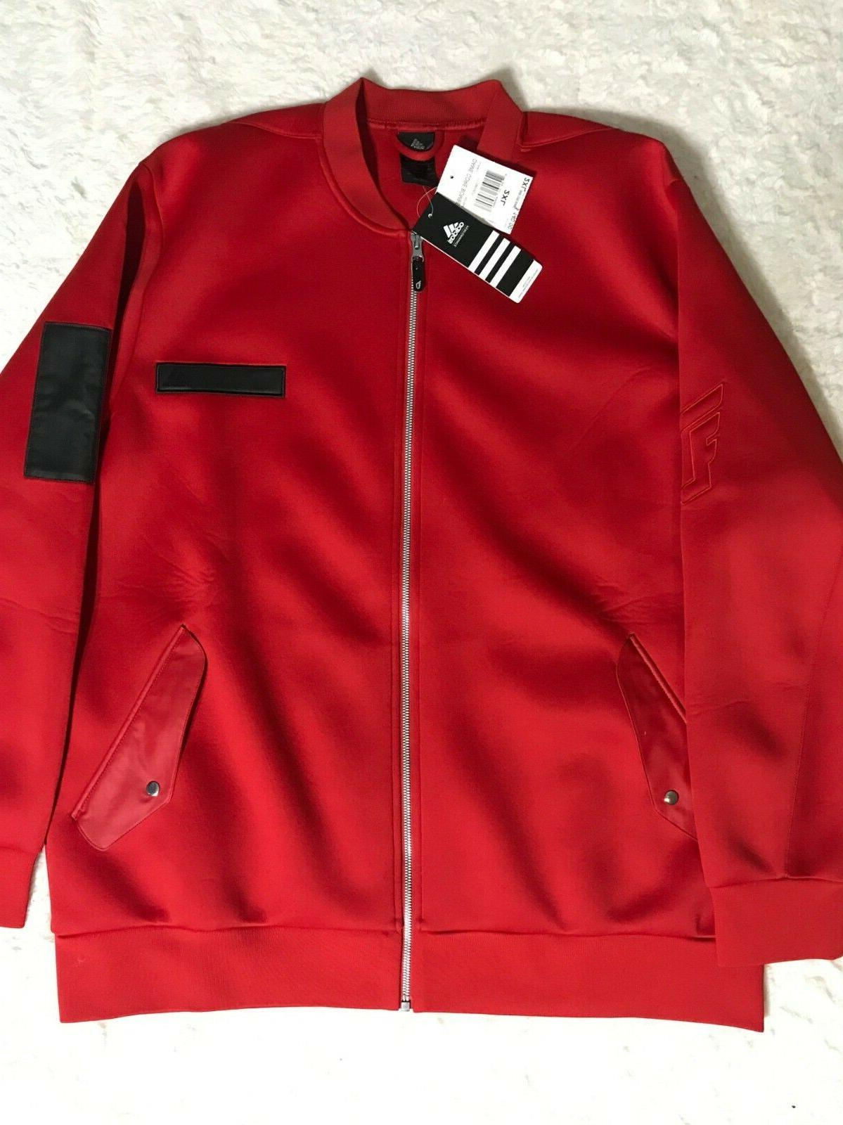 new mens scarlet red dame core bomber