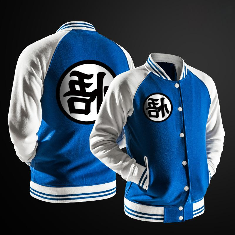 New Trend Black Varsity <font><b>Jacket</b></font> Fashion Japanese Ball Goku <font><b>Jacket</b></font> For DBZ