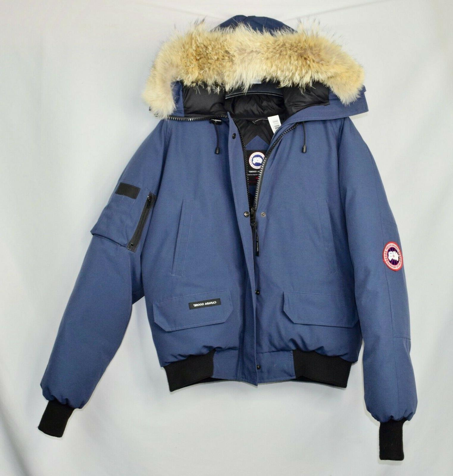 nwot mens chilliwack bomber blue size large