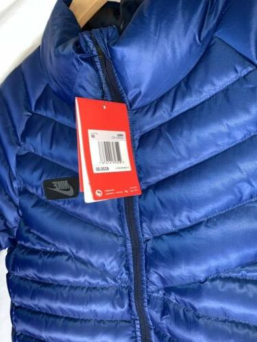 NWT Nike 550 Fill Down Quilted Men's Blue Bomber Winter Jack