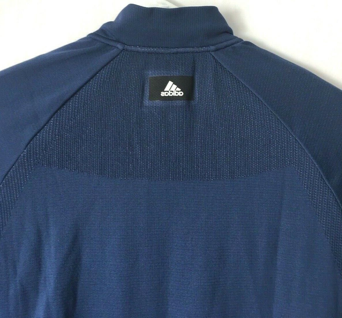 NWT Adidas Bomber Athletic Jacket Men's Size LARGE Blue $120