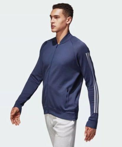 nwt id knit bomber athletic jacket mens