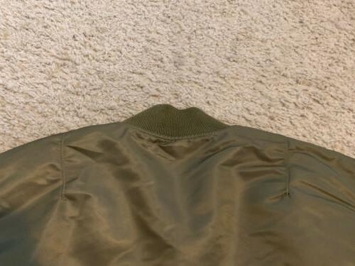 NWT Alpha Industries MA-1 Bomber Jacket Vintage Olive Green Sz