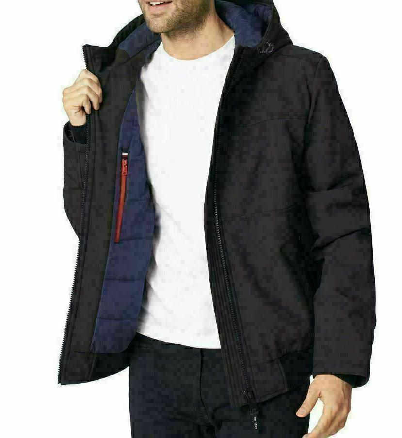NWT Tommy Hooded Soft-Shell Black L