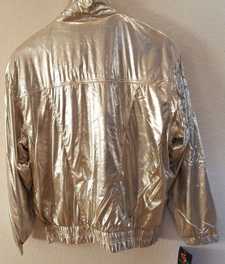MEDIUM SILVER JACKET WINDBREAKER WOMENS