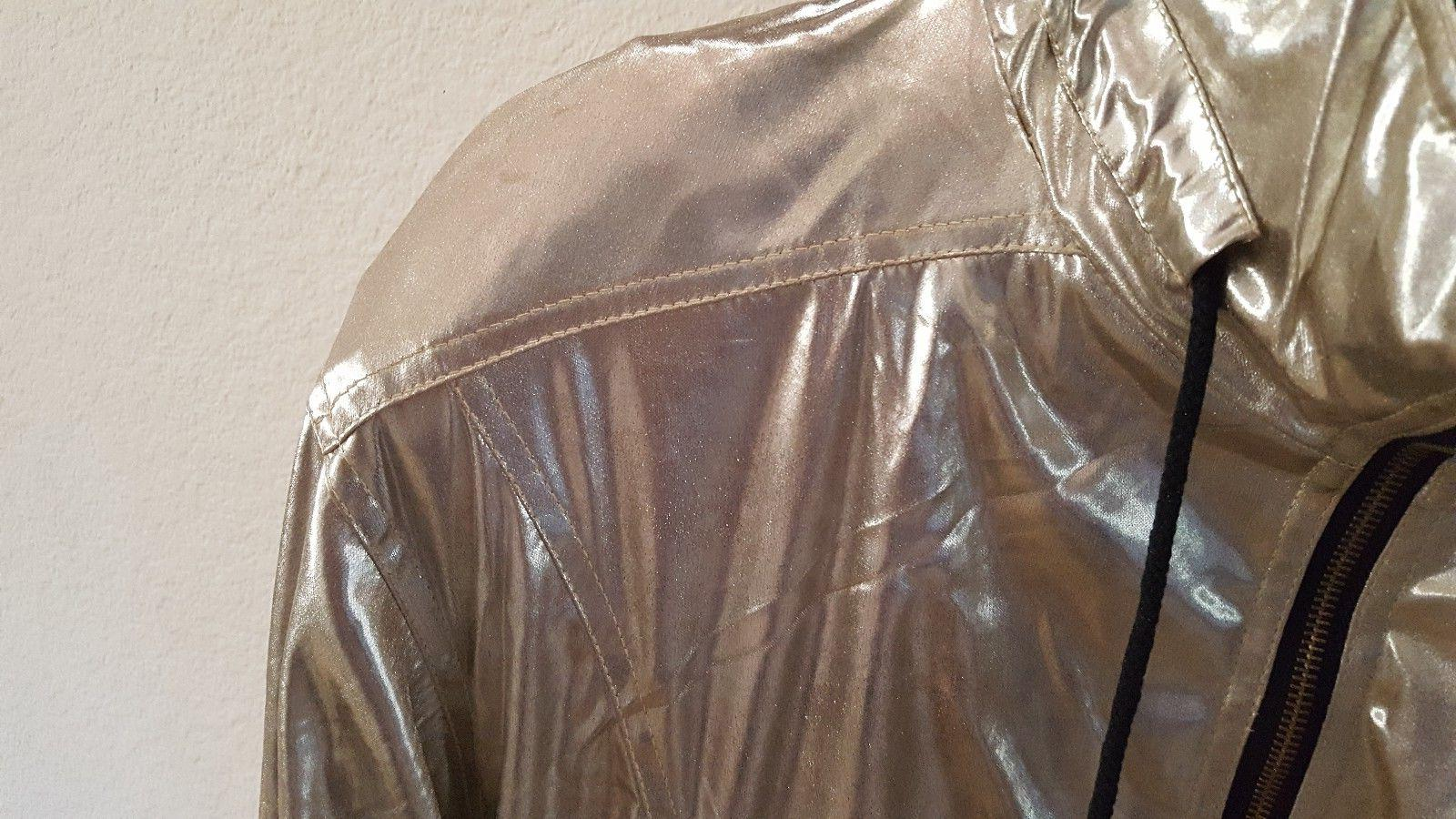 NWT MEDIUM METALLIC BOMBER JACKET WOMENS