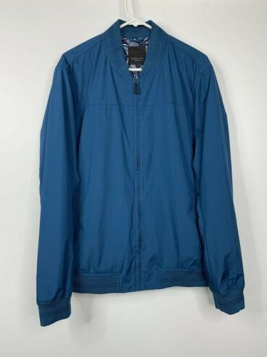 Ted Ohta Bomber Jacket Coat 6 Pockets Teal $349 NEW HNG
