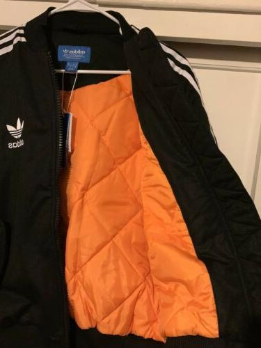 Rare Adidas Striped BOMBER jacket Br7122 Mens small