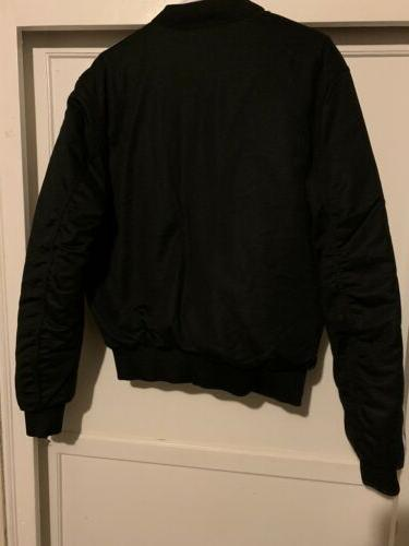 Rare Adidas Black BOMBER jacket small