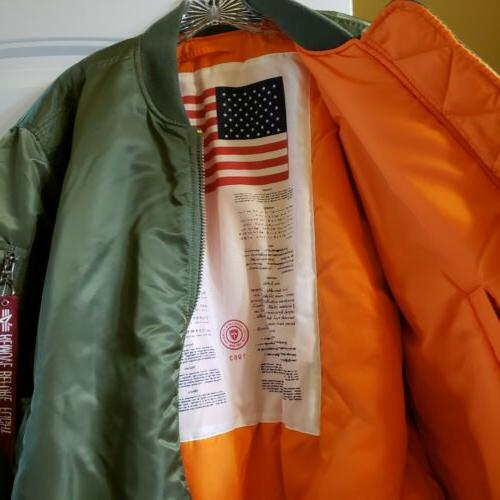 ALPHA INDUSTRIES BOMBER MA-1 LARGE