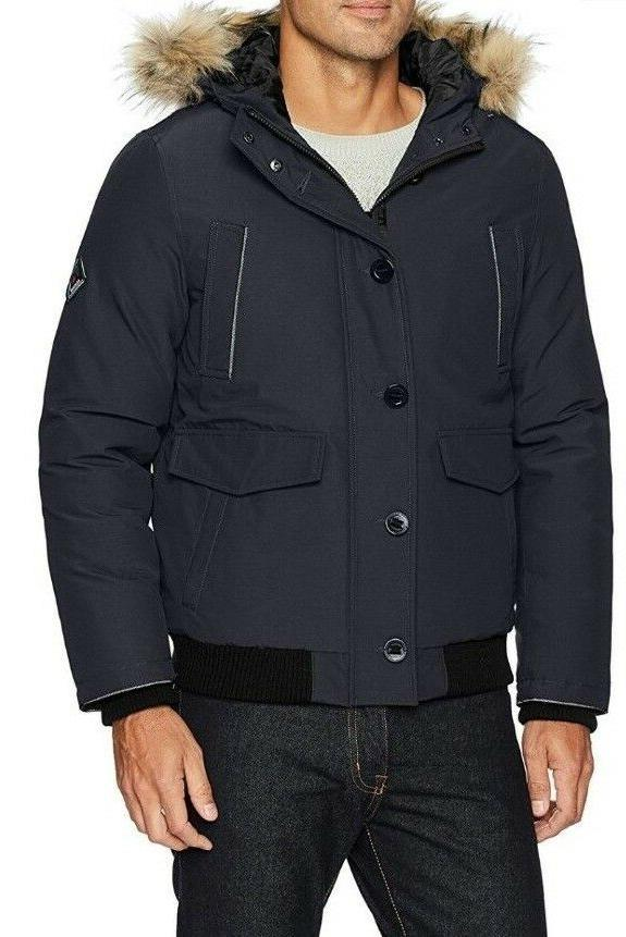 Set of 2 Alpine North Men's Down Bomber Jackets, 1-Navy & 1-