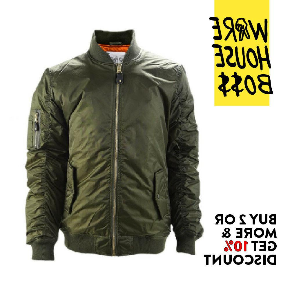 SHAKA PLAIN BOMBER JACKET MILITARY JACKET