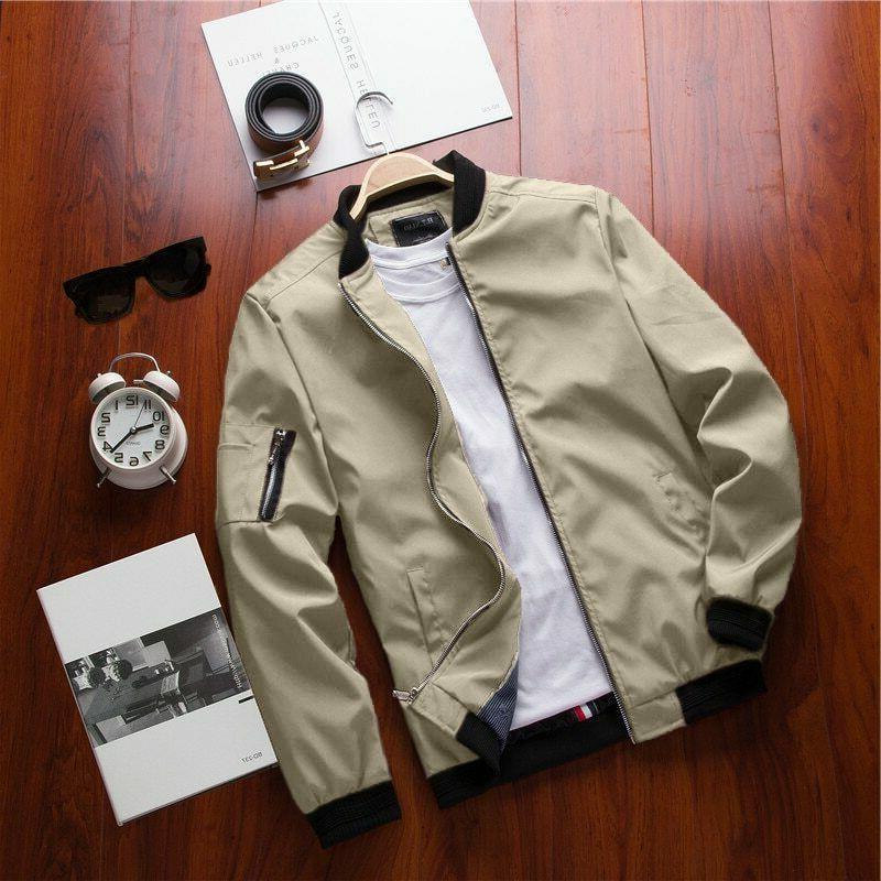 New Bomber Jacket Male Casual Hip Fit Coat