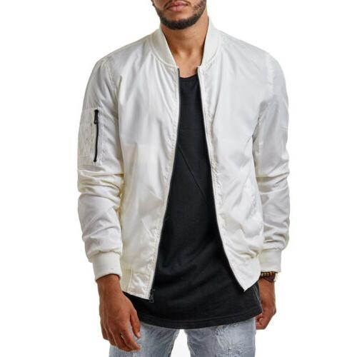 Stylish Mens Casual Jacket Motorcycle Zip Outwear