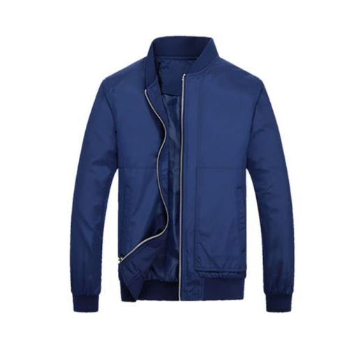 Stylish Bomber Jacket Motorcycle Zip Outwear Streetwear
