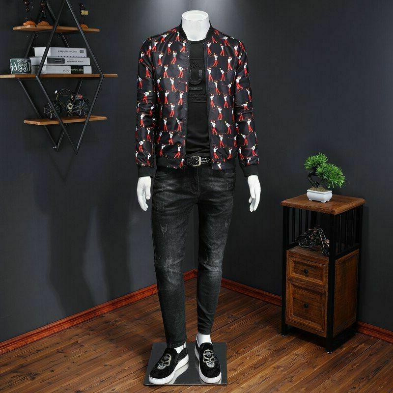 Jacket Men Sport Character Outfit