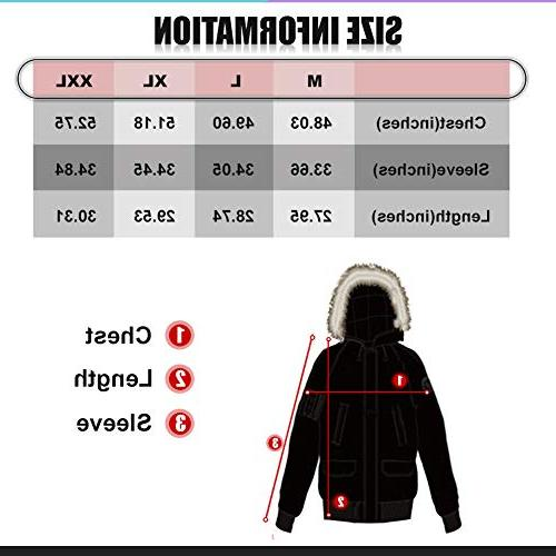 PUREMSX Team for Men with Hood, Heavy Quilted Aviator Jacket Alternative Bomber for