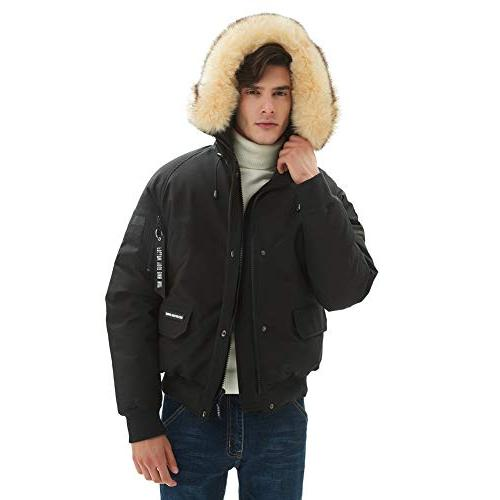 PUREMSX for Hood, Extremely Heavy Fashion Aviator Jacket Down