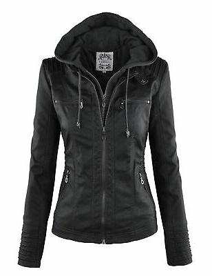 wjc663 womens removable hoodie motorcyle jacket m