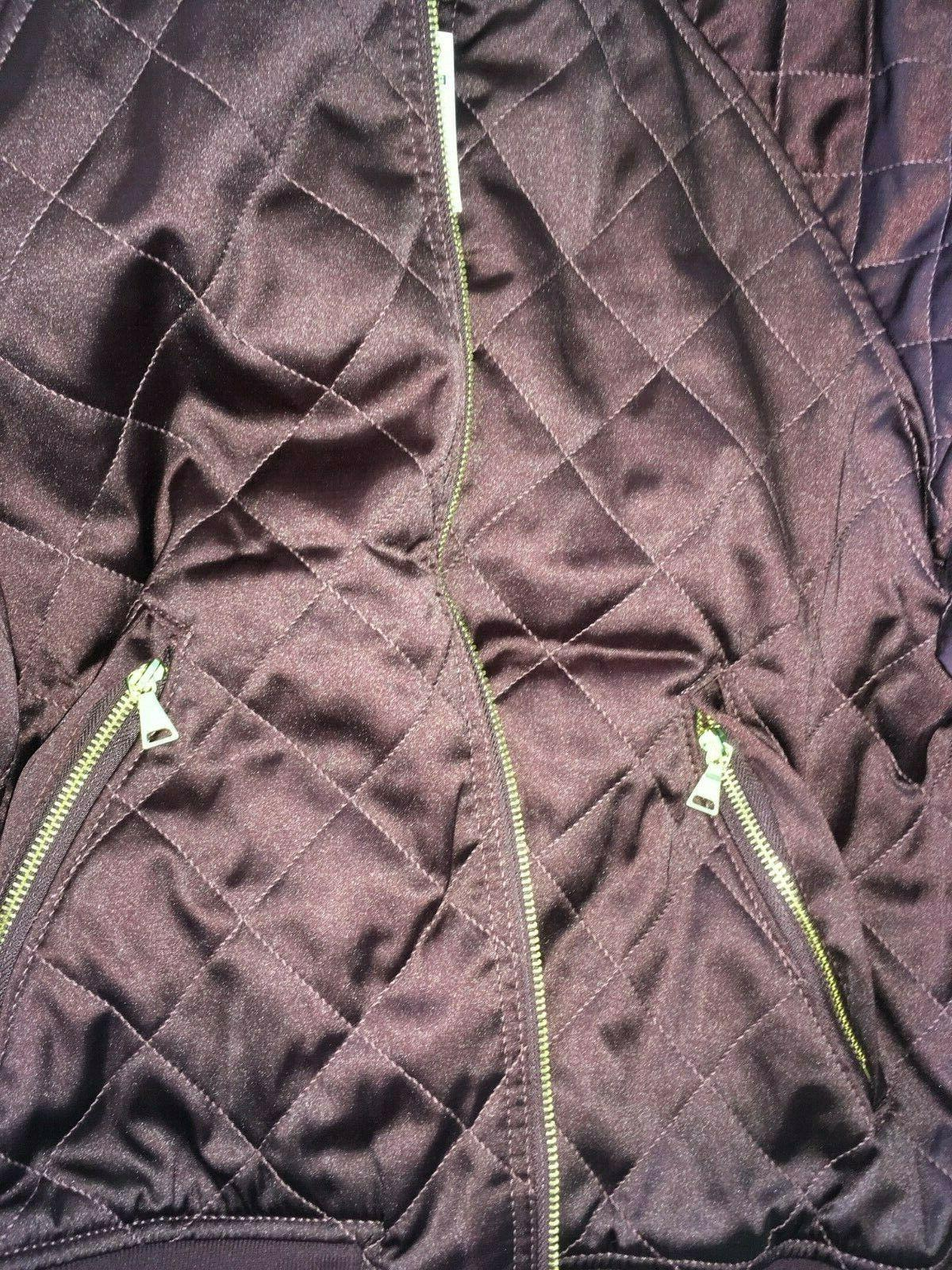 EXPRESS Women Bomber Quilted Pattern Gold Sz NWT