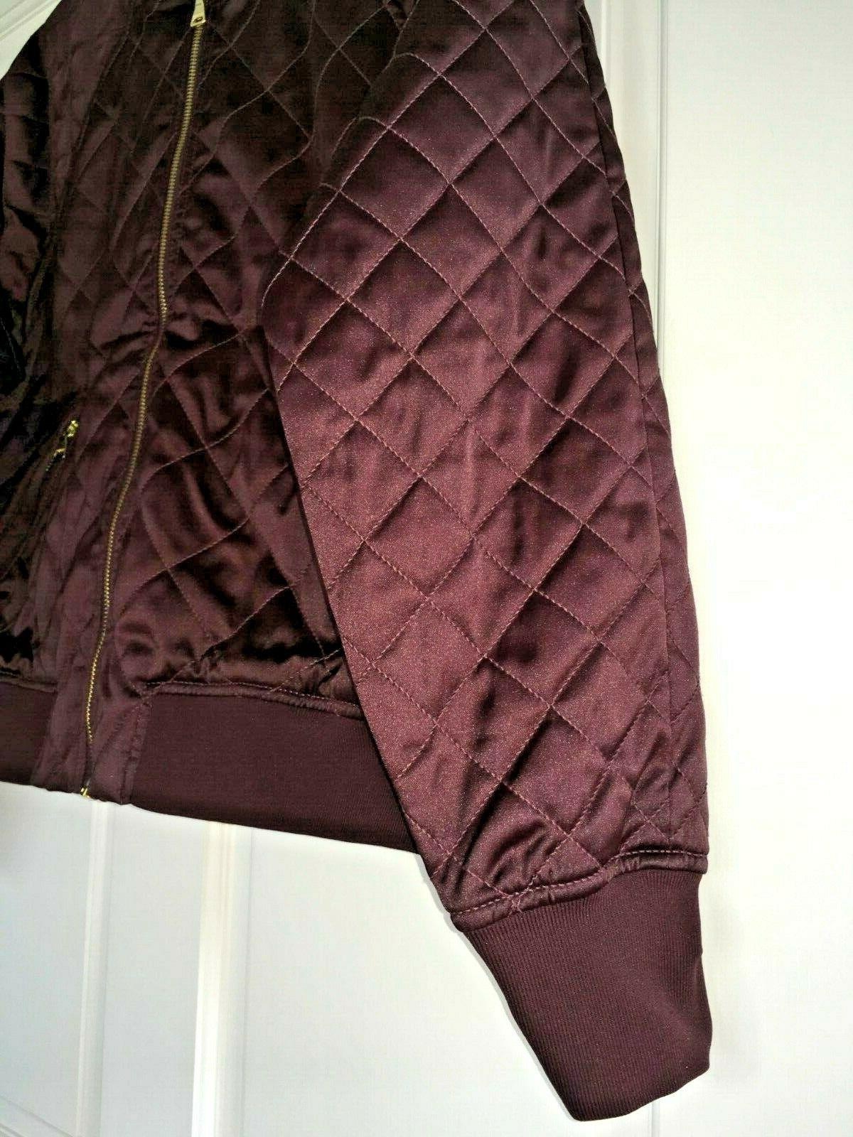 EXPRESS Bomber Jacket Quilted Pattern Gold Zipper NWT