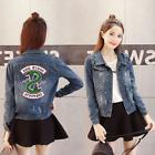Women Denim Jacket Riverdale southside serpents Jeans bomber